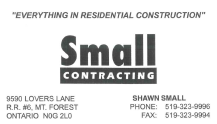 Small Contracting