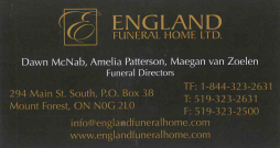 England Funeral Home Ltd.