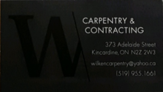 Alec Wilken Capentry & Contracting